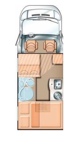 Doppelbett clipart  Carado T 132 mit integriertem Doppelbett 93587688 - Campanda.de