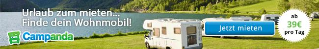 Auf Campanda.de Wohnmobile ab 39€ pro Tag finden
