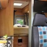 Schlafbereich im Campingbus