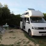 Westfalia Campingbus auf einem Campingplatz