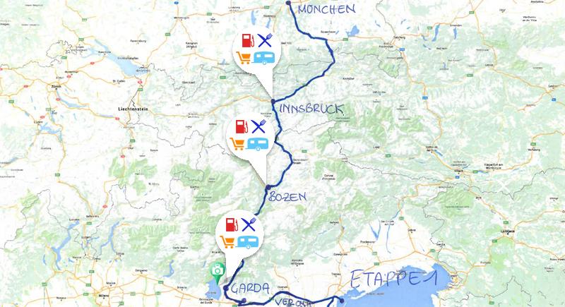 Campanda Routenvorschlaege - Wohnmobiltour an der Adria - Etappe 1
