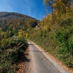 Straße im Odenwald