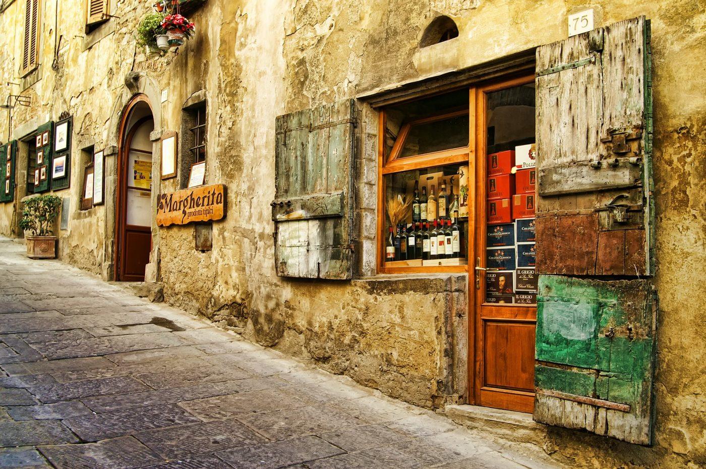 Toskana alte Häuser