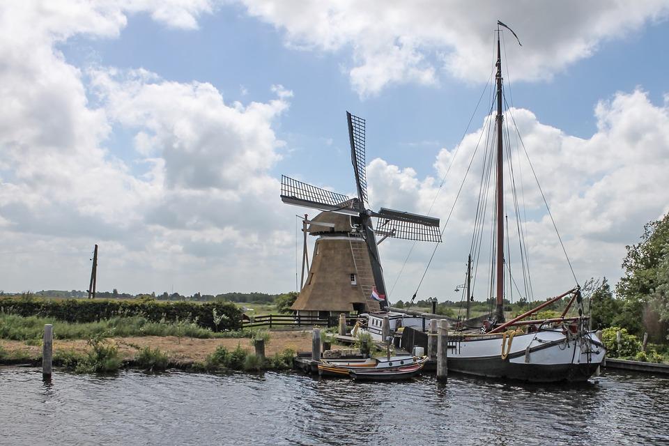 Windmühle Ijsselmeer