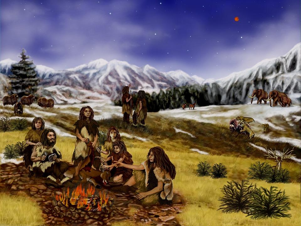 Gemälde Neandertaler