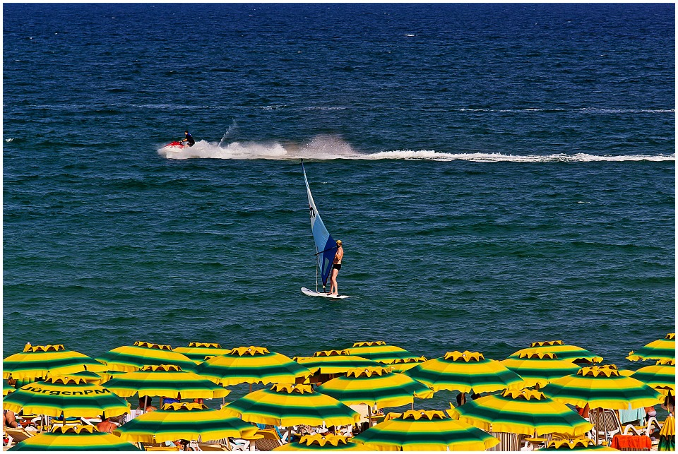 Windsurfen am Goldstrand in Bulgarien