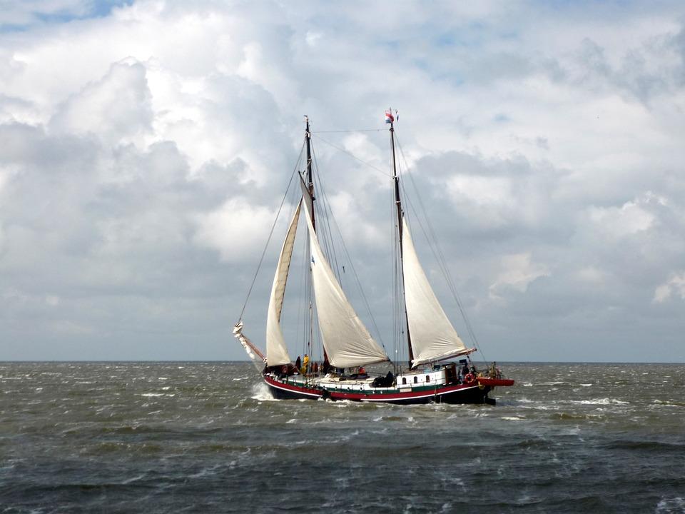 Segelboot auf dem Ijsselmeer