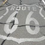 route 66 Straßenmarkierung