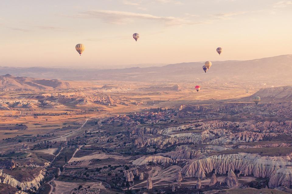 Heißluftballons über Anatolien