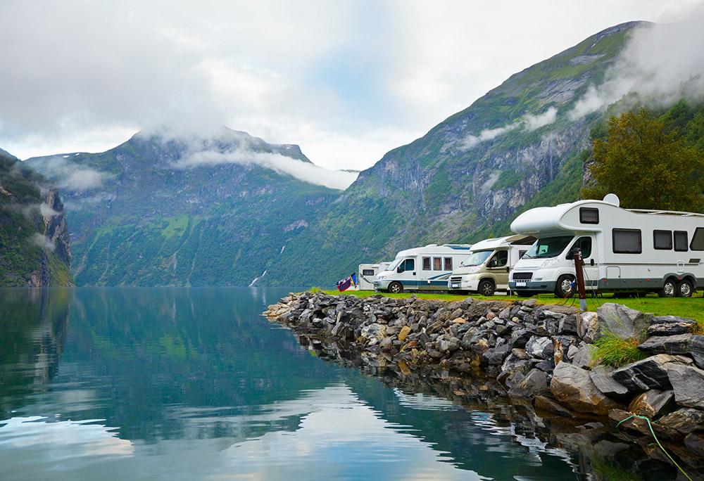 Wohnmobil Stellplatz Fjord Norwegen