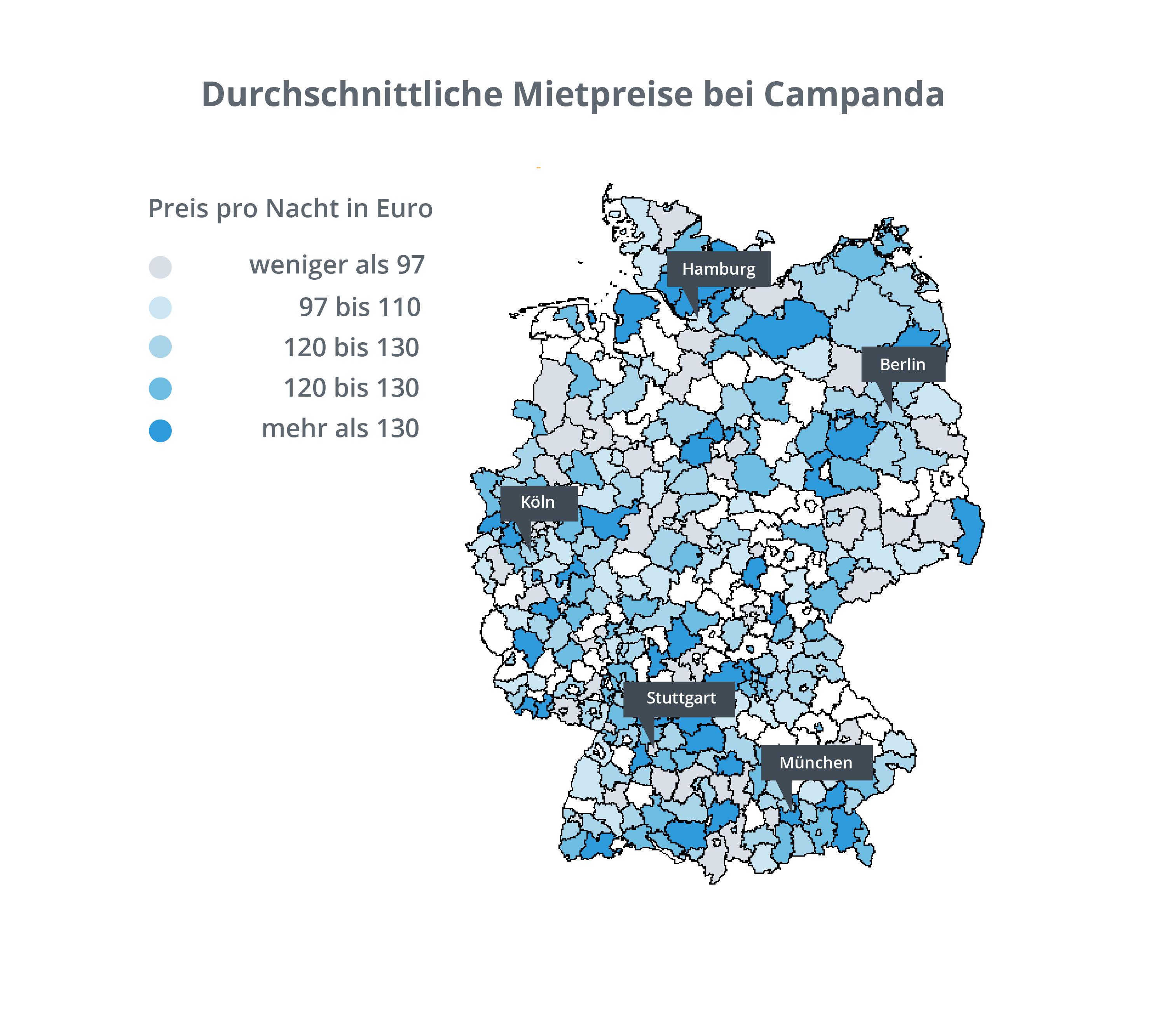 Abbildung 5.2: Karte - Mietpreise in Deutschland