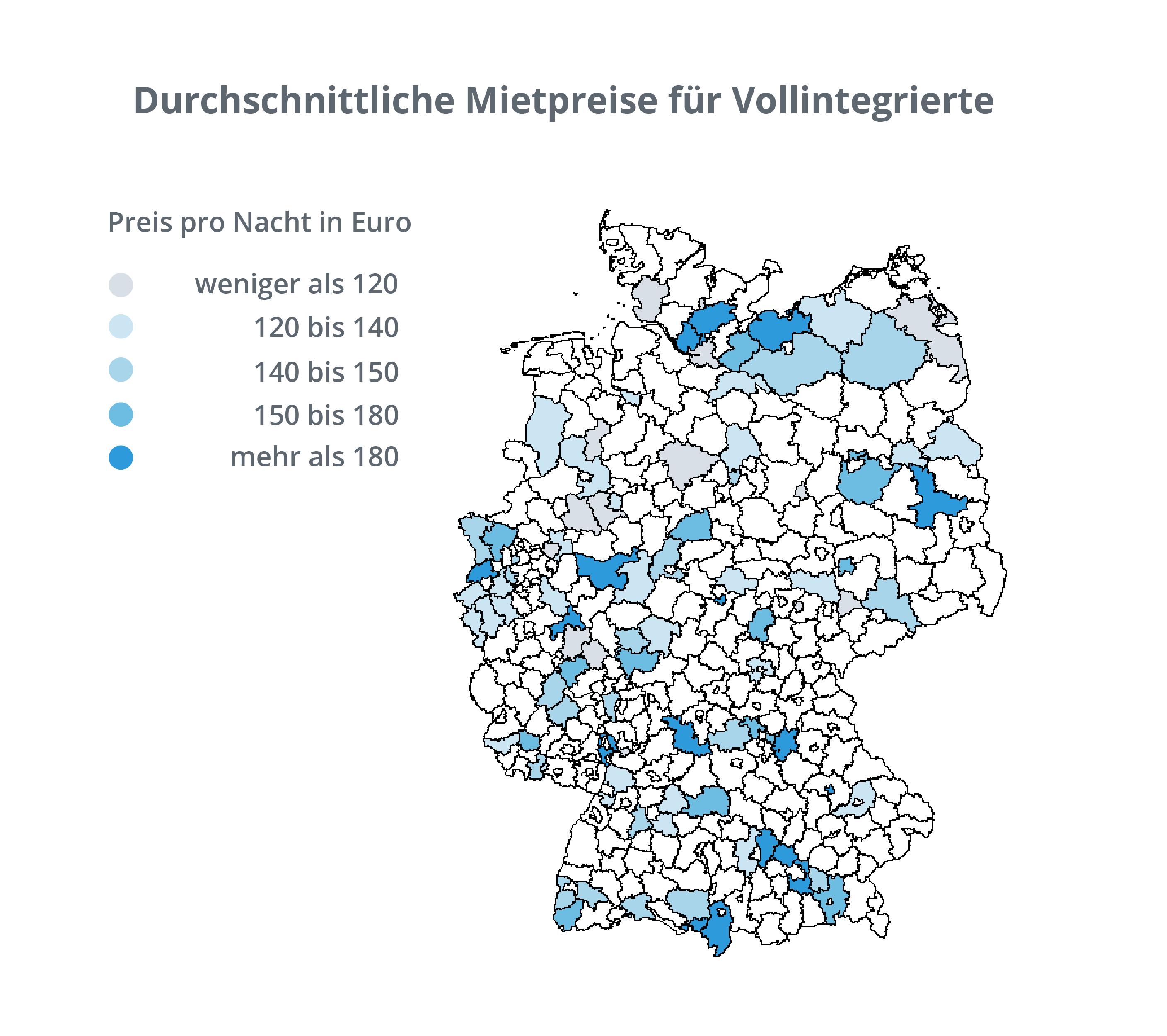 Abbildung 5.3: Karte - Mietpreise Vollintegrierte in Deutschland