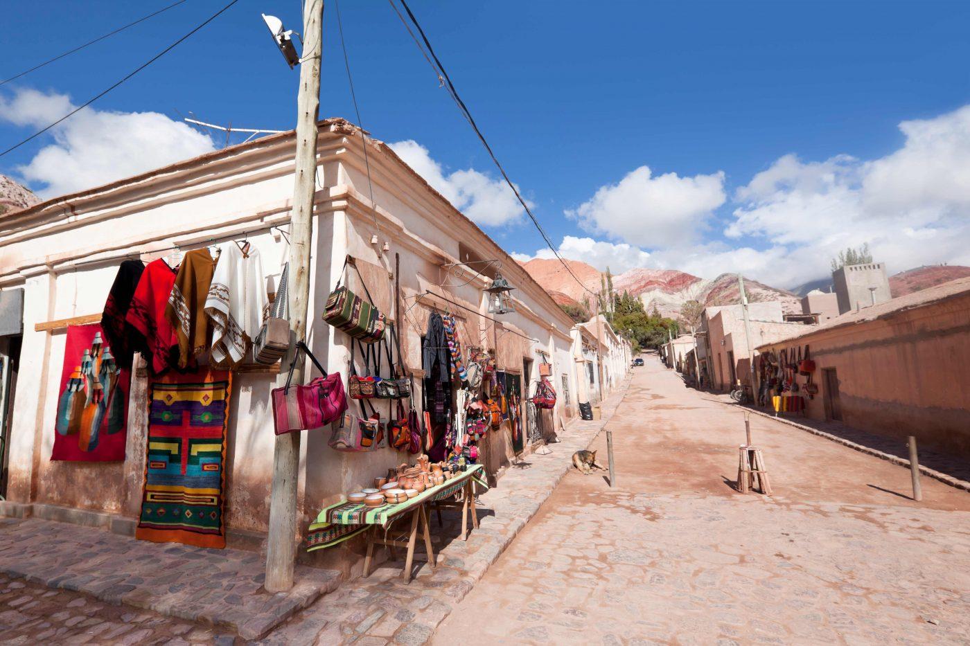 Straße im Dorf Purmamarca