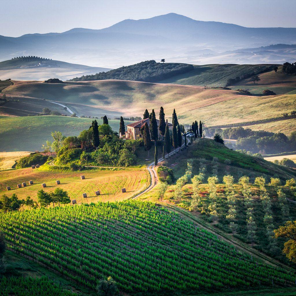 Typische Landschaft der Toskana.
