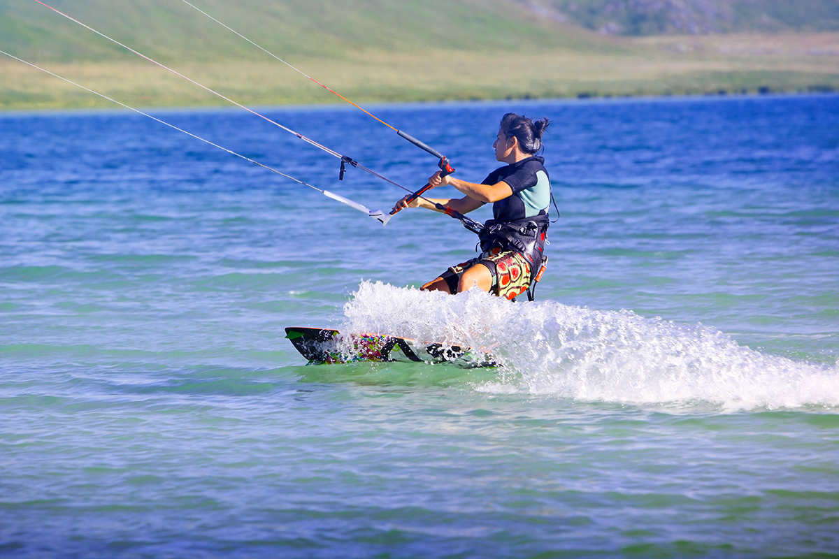 Kitesurfer auf dem Steinhuder Meer