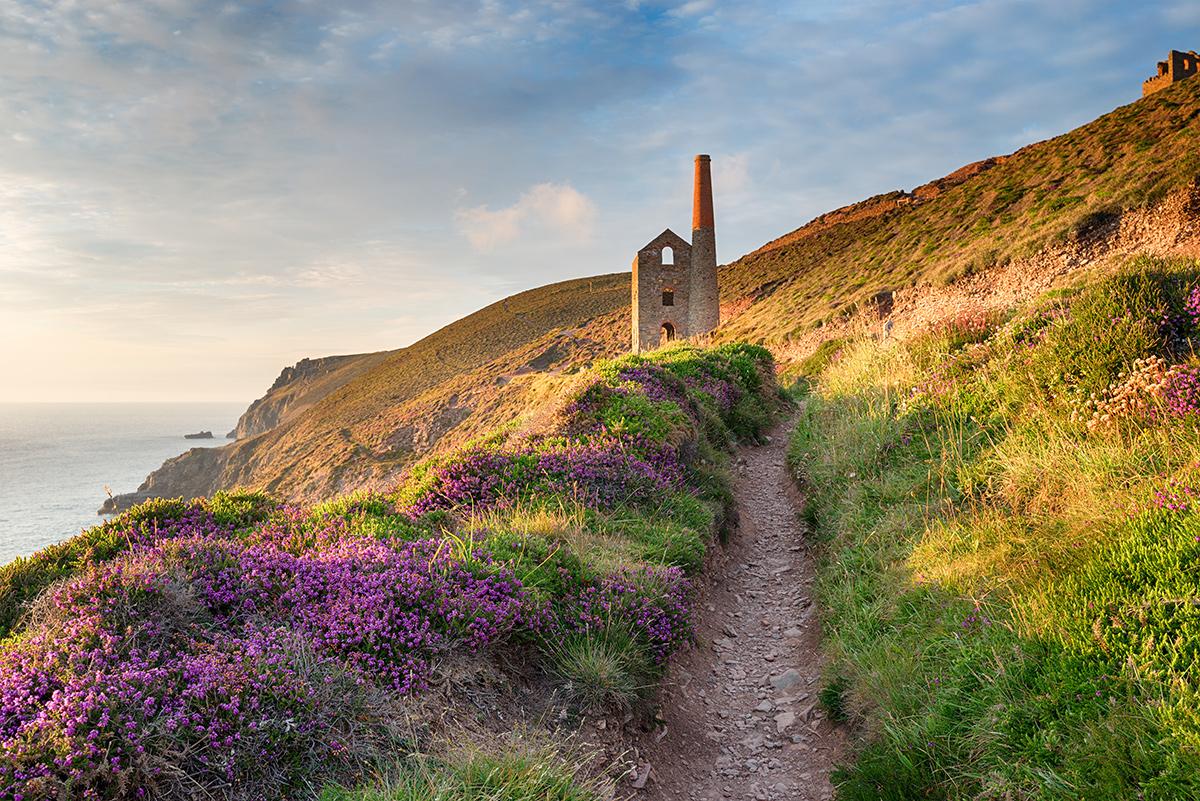 Landschaftspanorama der Südküste Cornwalls.