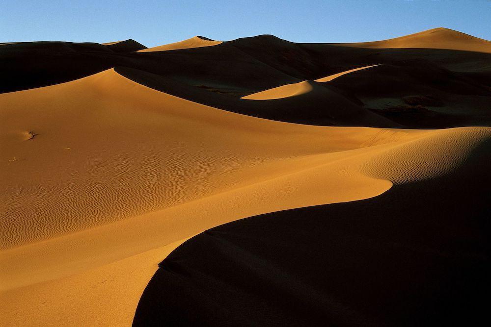 Riesige Sanddünen im Great Sand Dunes Nationalpark.