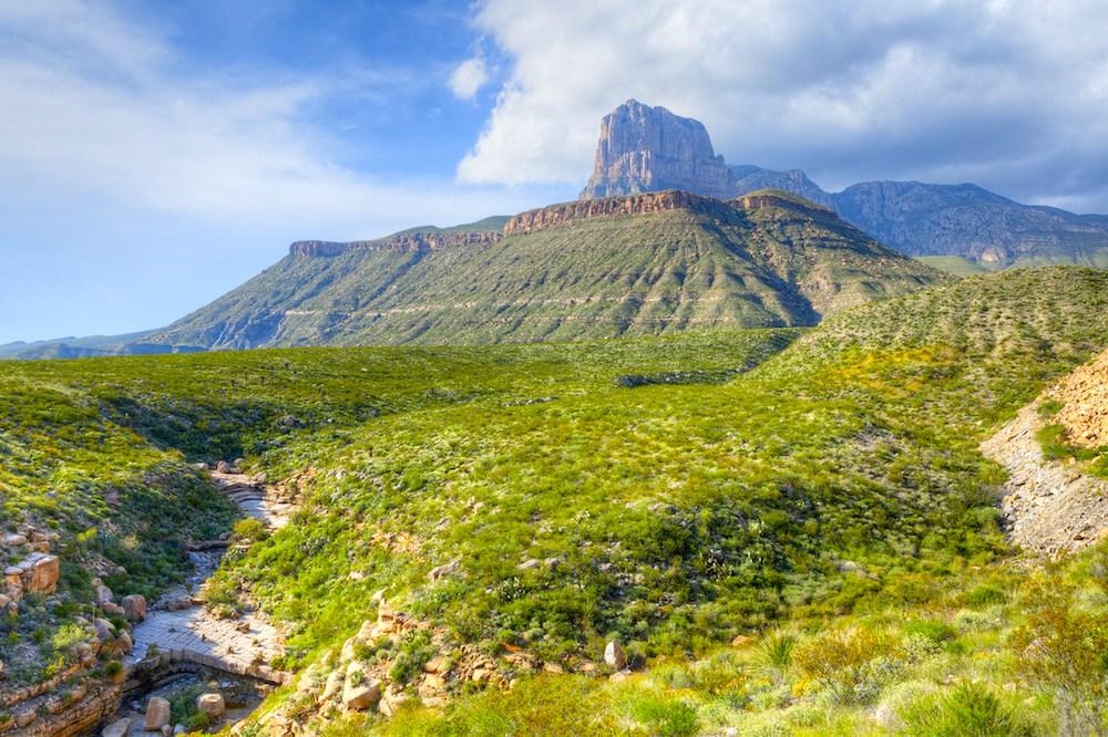 Der Gipfel von El Capitan im Guadalupe Mountains Nationalpark.