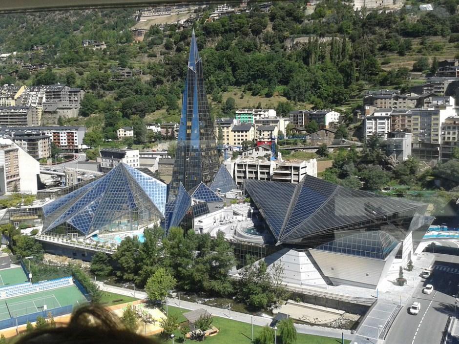 Blick auf die Stadt Andorra