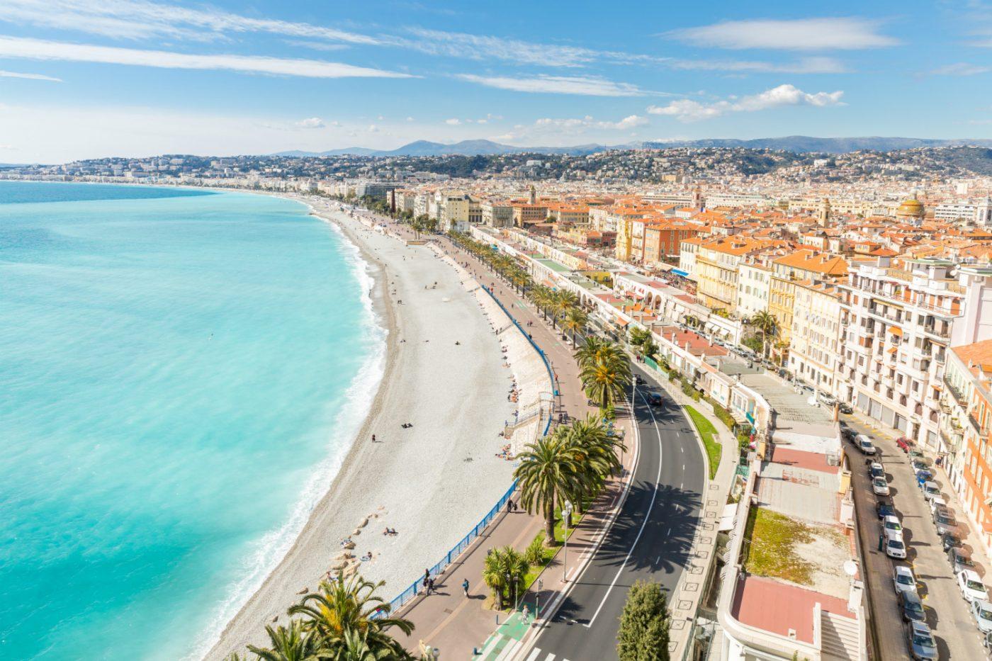 Küstenabschnitt der Stadt Nizza