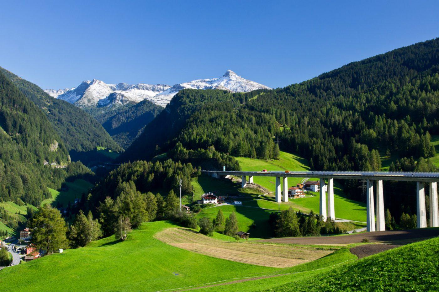 Der Brennerpass in Österreich