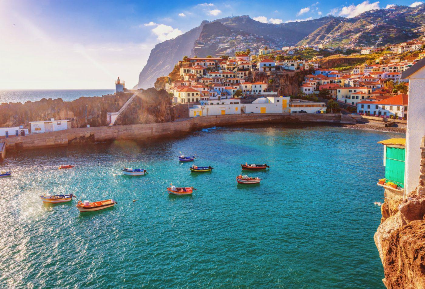 Städtchen am Meer auf Madeira.