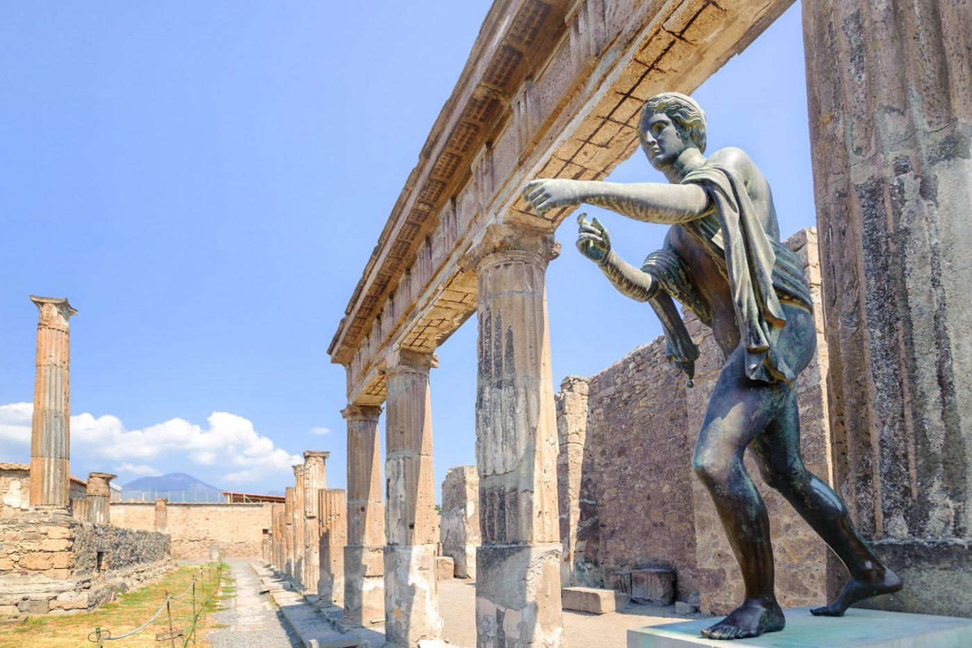 Die Ruinen von Pompei, Italien.