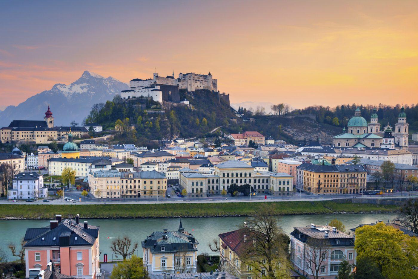 Blick über Salzburg.