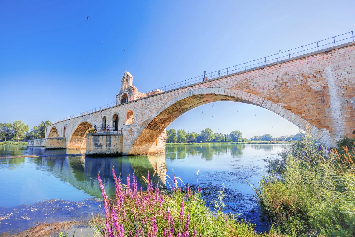 Die Brücke von Avignon, Pont Saint-Bénézet, in Frankreich.
