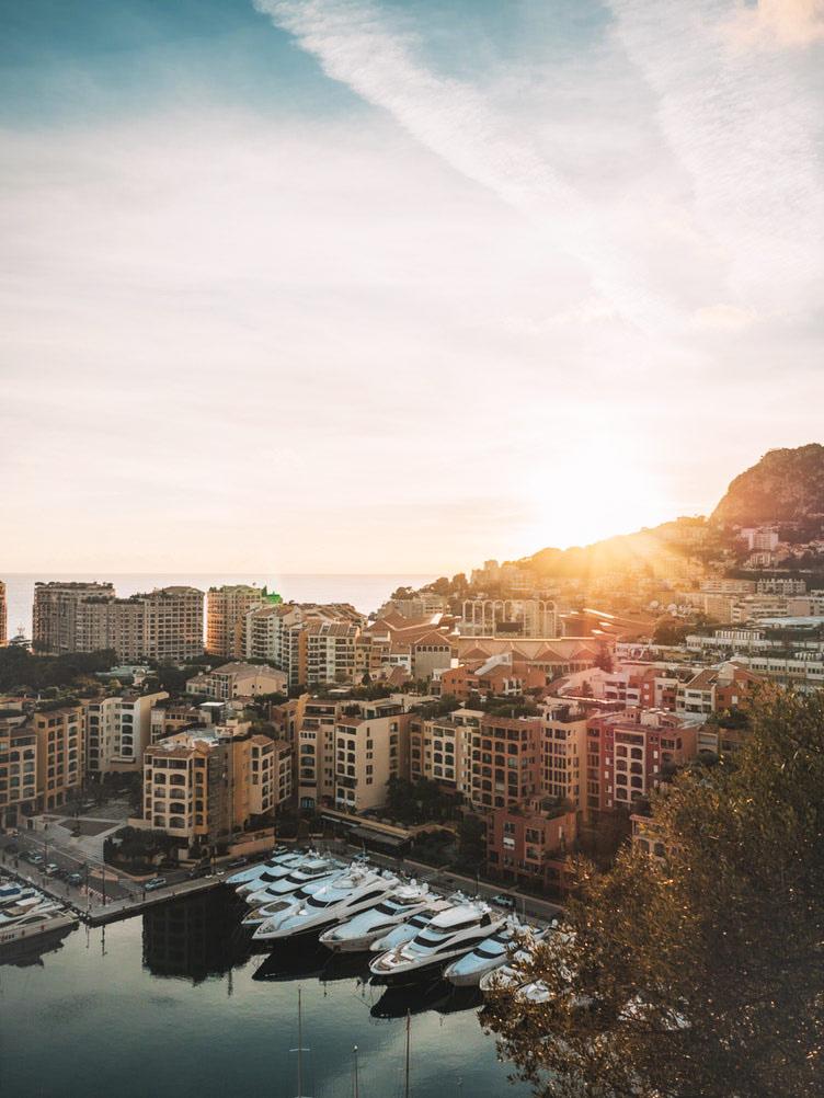 Yachten im Hafen von Monaco.