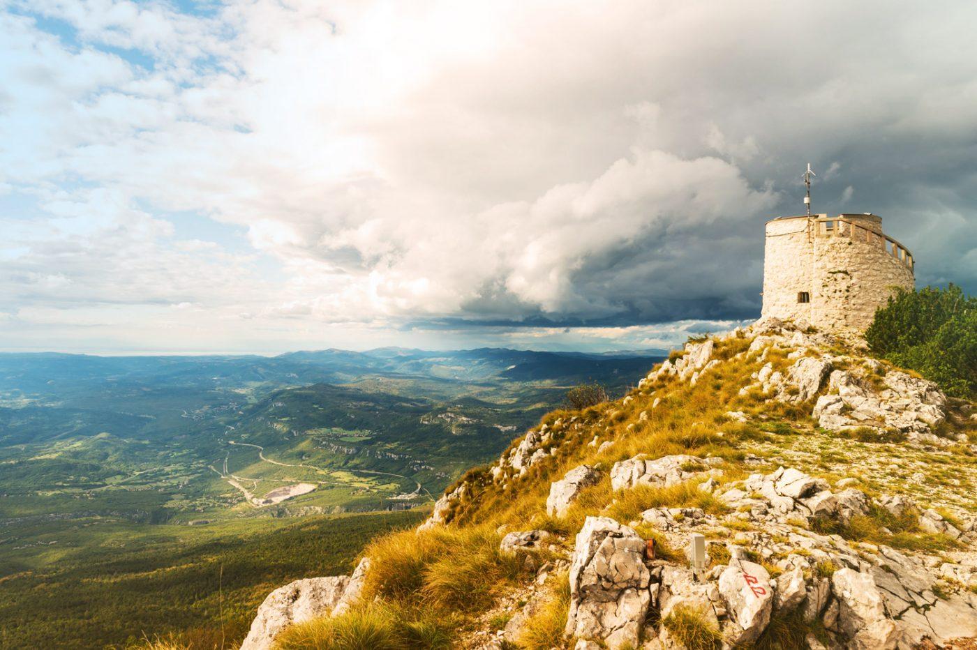 Blick über den Naturpark in Učka, Kroatien
