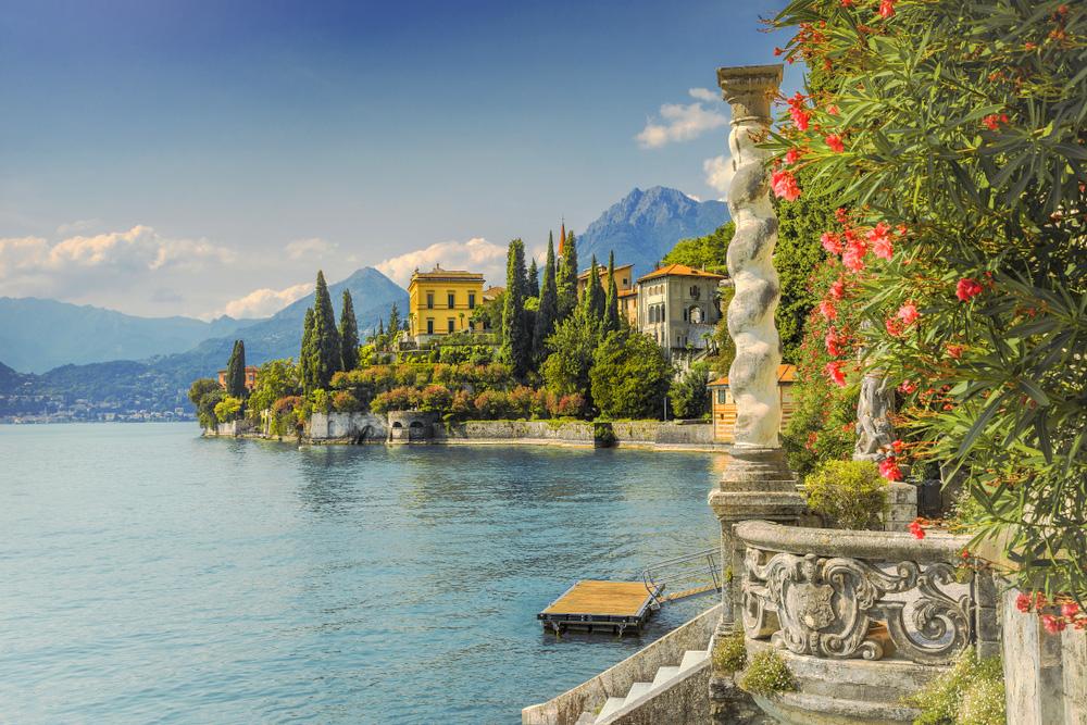 Häuser am Lago di Como in como, Italien.