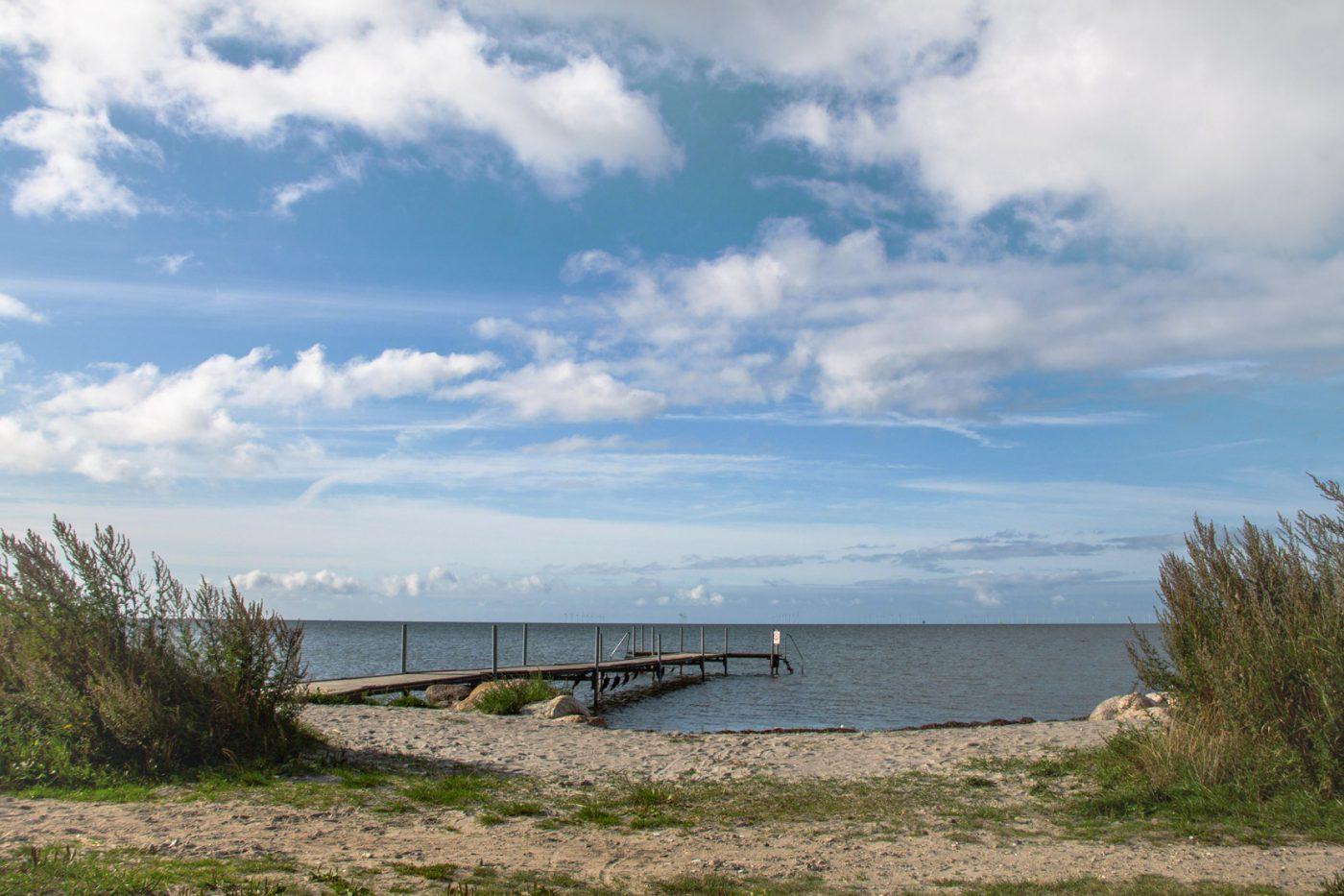 Uferland auf der Insel Lolland in Dänemark.