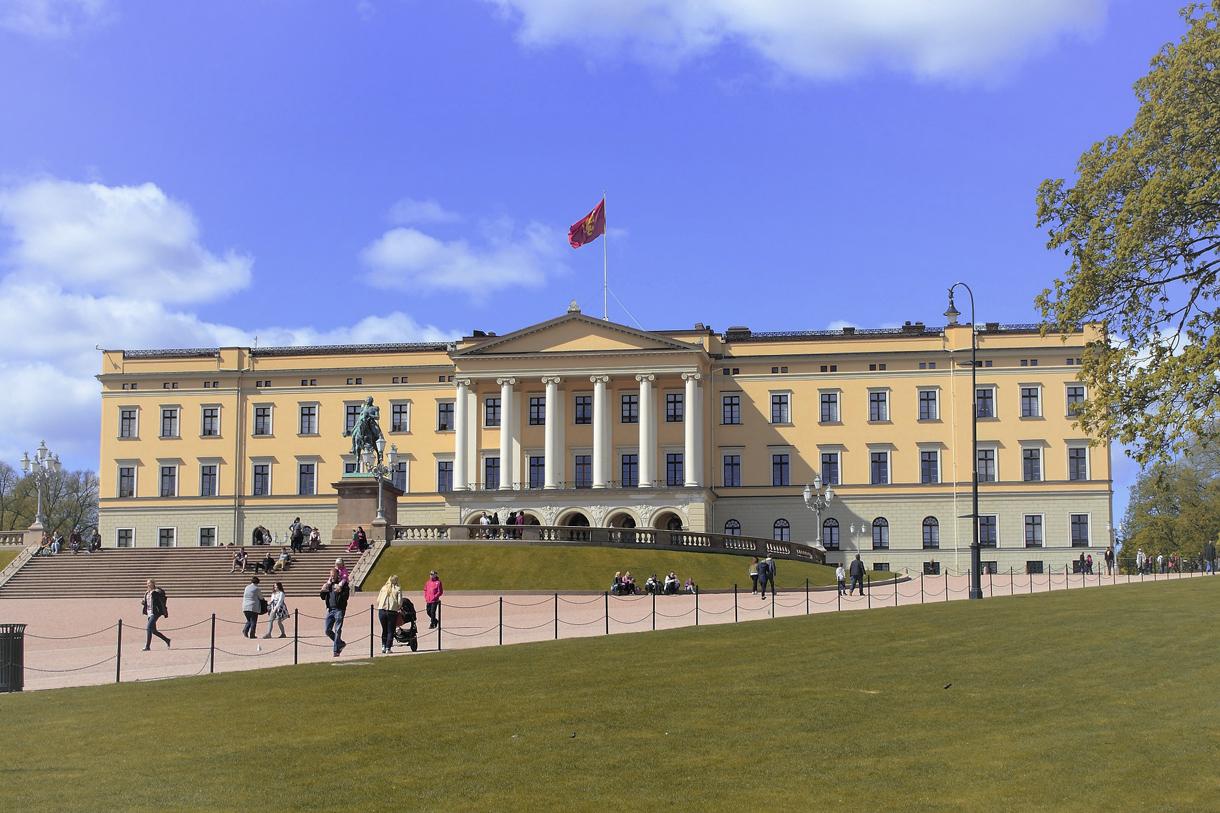 Das Königliche Schloss in Oslo.