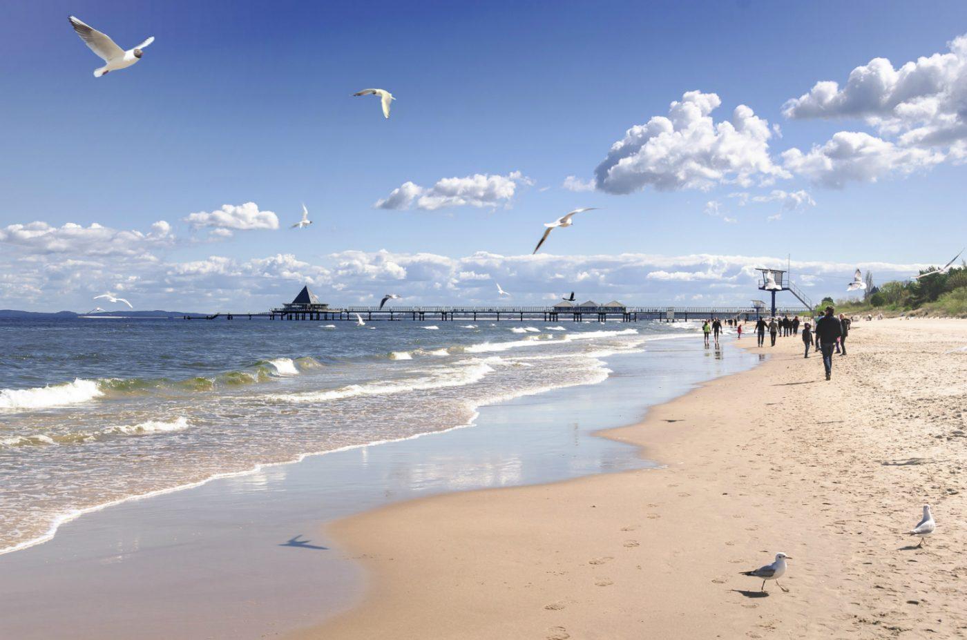 Ein Strand auf Usedom.