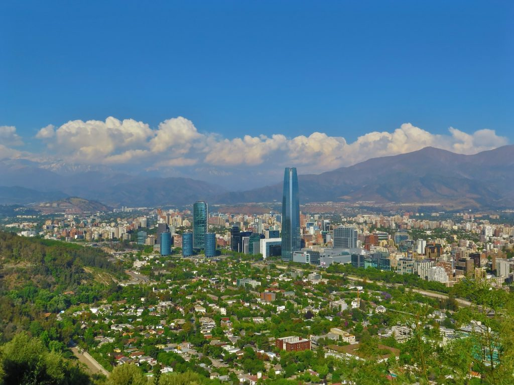 Aussicht Santiago de Chile