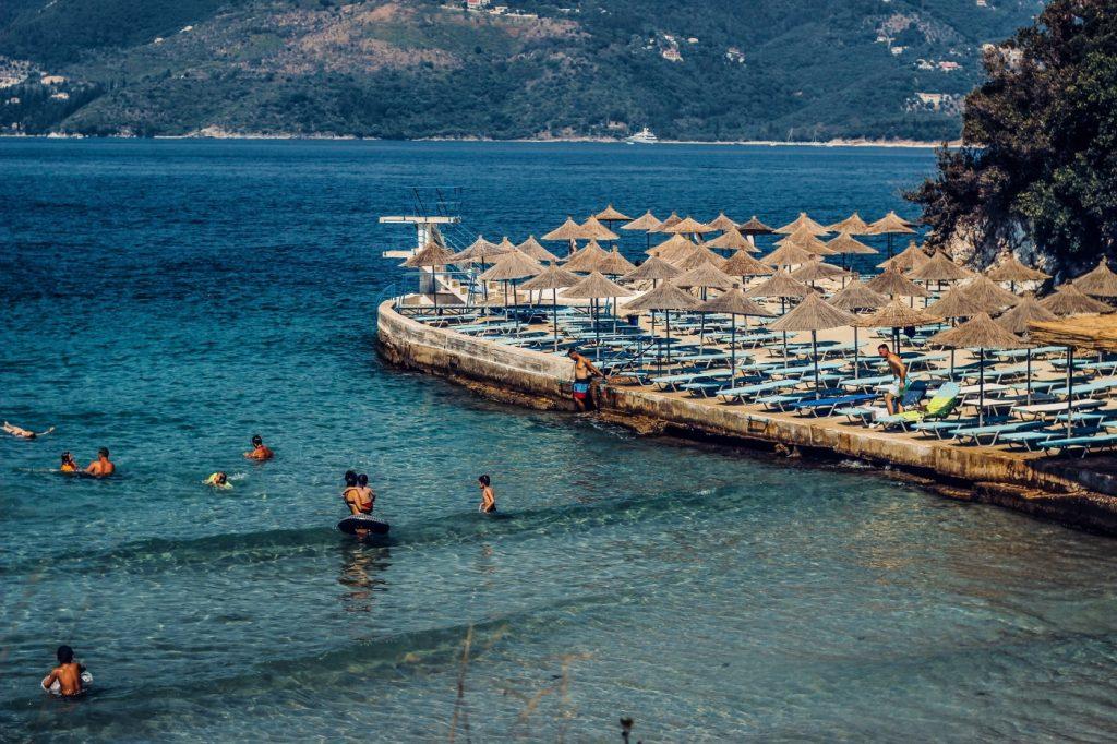 Baden an der Albanischen Riviera